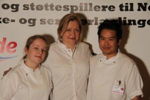 Heidi Bjerkan og lærlinger 2